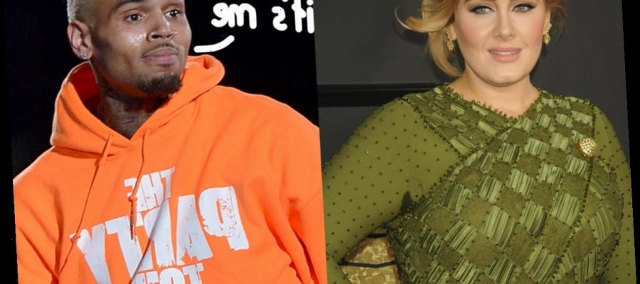 Adele Got A Late Night Visit From Chris Brown What Is Going On Here Talkcelnews Com
